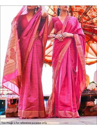 RE - Pink Coloured Handloom Silk Saree