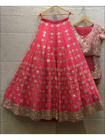 Coral color Jalpari Silk Lehenga Choli