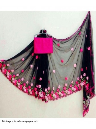 RE - Captivating black Georgette embroidered saree