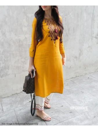 RE - Yellow Rayon Kurti with palazzo