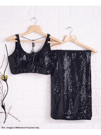 RE - Party wear Black Color Georgette Saree