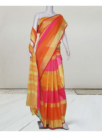 RE - Pleasing Multicolor Manipuri silk saree
