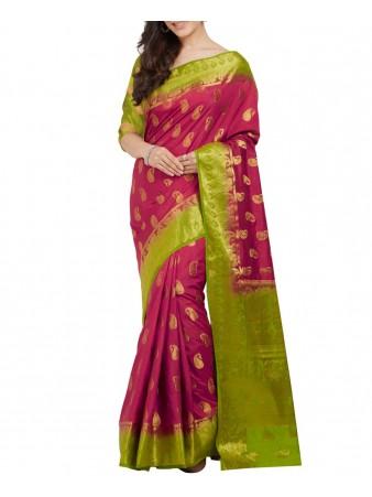 PC- Zestful Parrot Nylon silk printed saree